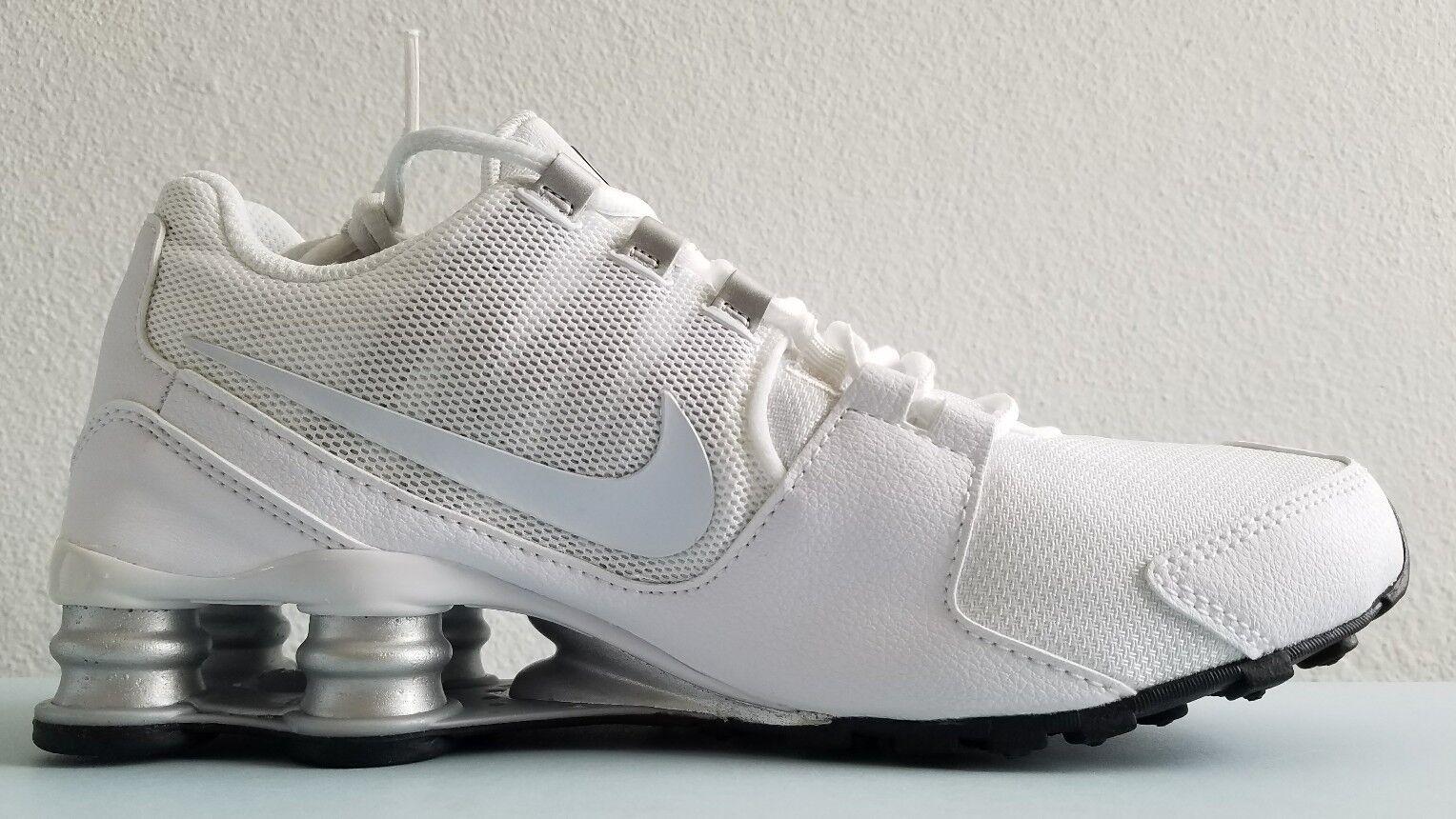 1a1f64309c5 Nike Shox Avenue Mens Mens Mens Running White Silver-Black Nike 833583 101  Size 7.5 New fbe0b6