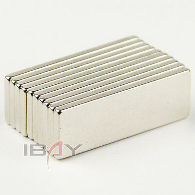 10pcs Super Strong Cuboid Block Magnets 30 x 10 x 2 mm Rare Earth Neodymium N35