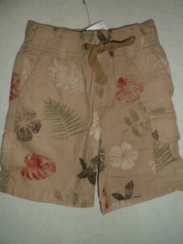 Gymboree OUTBACK ADVENTURE Tan Beige Khaki Flower Leaf Print Cargo Shorts NWT