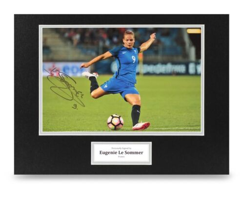 Eugenie Le Sommer Signed 16x12 Photo Display France Autograph Memorabilia + COA