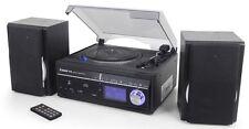 Steepletone Memphis2 5-in-1 Encode Turntable CD DAB Radio Music Centre Black