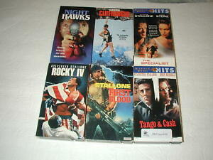 SLY-STALLONE-6-PACK-VHS-MOVIE-LOT-RARE-OOP-HTF
