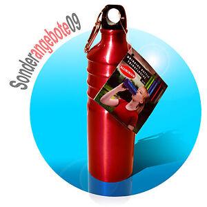 OUTDOOR-Alu-Trinkflasche-750ml-rot-Aluminium-Aluflasche-Sport-Fahrradflasche