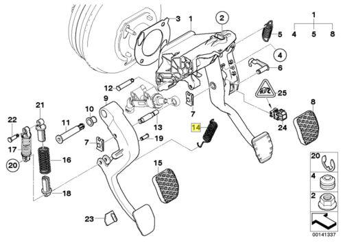 Pedale della frizione BMW LEVA CAMBIO tensione PRIMAVERA 35311165749