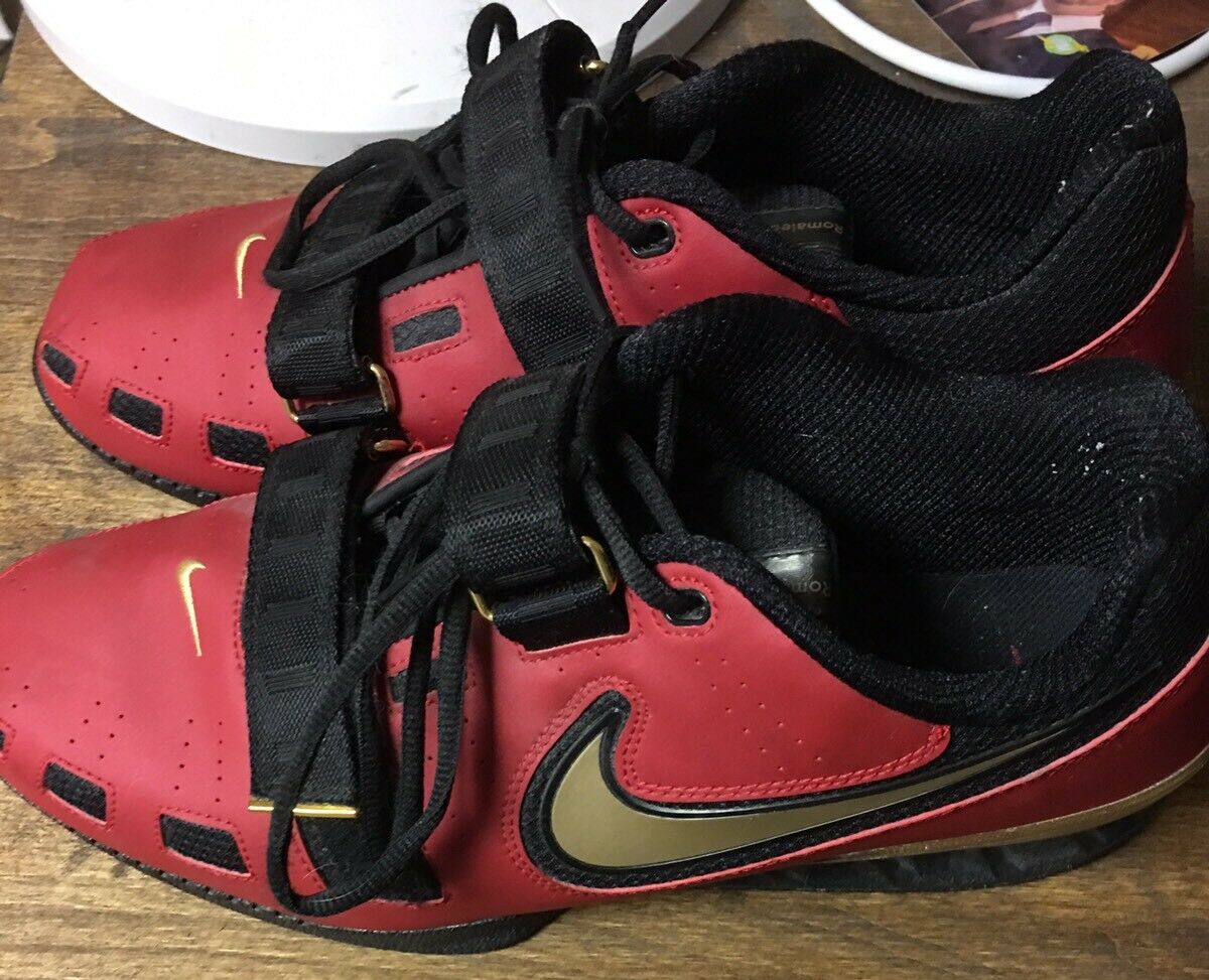 Nike Romaleos II 2 Weightlifting Shoes Varisty Red/Gold/Black 476927-600 SZ 12.5