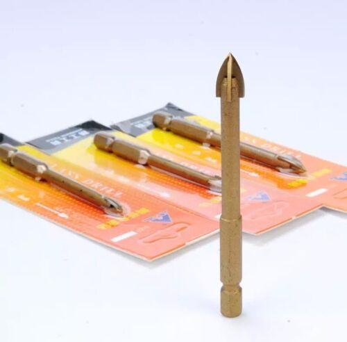"2pc  Masonry Drill Bit Set 1//4"" Carbide Tip Concrete Brick Tile"