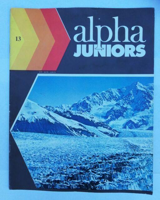 Alpha Juniors Revue N 13 14 décembre 1976 quelle heure est-il glace et glaciers