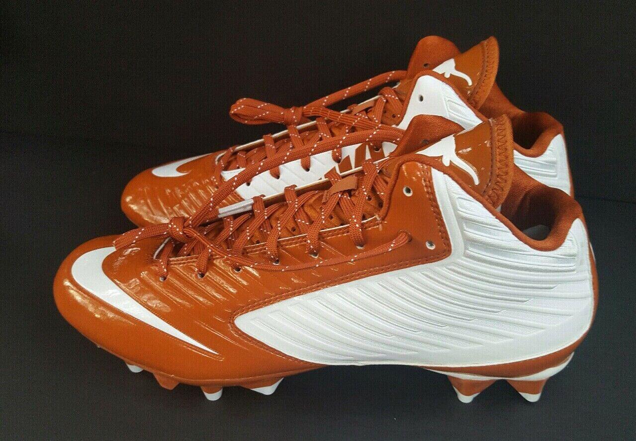 Nike Vapor Speed 3 3 3  4 Mid Football Stuats Storlek 11 UT Texas Longhorns Promo Sample  bästa valet