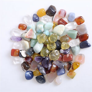 200g-Bulk-Tumbled-Stones-Mixed-Quartz-Crystal-Healing-Reiki-Mineral-Collectibles