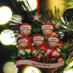 Details About Personalized Christmas Tree Ornaments Family Of 2 3 4 5 6 Holiday Gift Ornament