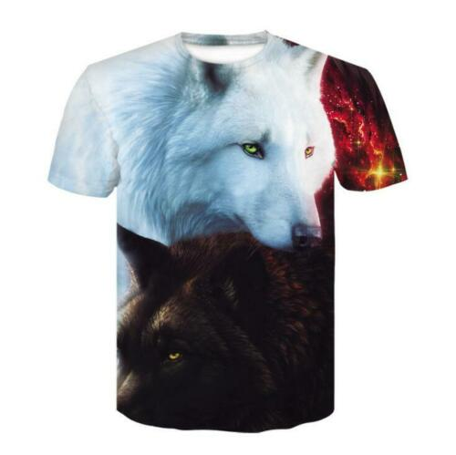 3D Print Wolf T-Shirt Mens Womens Animal designer Tee shirt Casual Graphic Tops