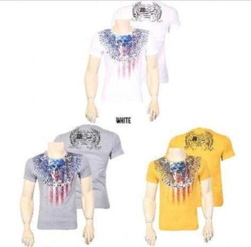 print pression étoiles clubware tete de mort usa drapeau Black rock denim Jeel t-shirt