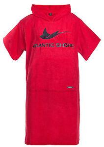 Atlantic-Shore-Surf-Poncho-Bademantel-Umziehhilfe-Red