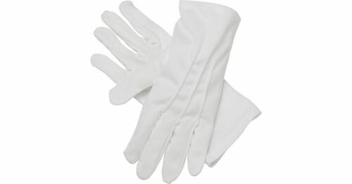 Large. Smart Quality Mens White Gloves