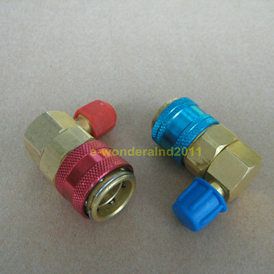 Car Auto Air-Conditioning  Quick Connector Adapter Coupler AC R134a QC-15LH
