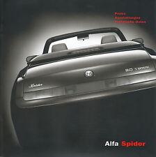 ALFA ROMEO SPIDER listino prezzi 1/03 Car Price List 2003 AUTO AUTOMOBILI ITALIA EUROPA
