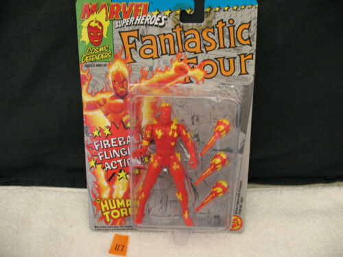 MARVEL SUPERHEROES HUMAN TORCH Action Figure NEW 1992 Toybiz No. 4837