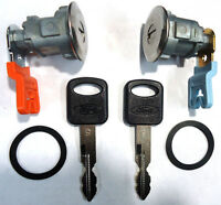 Ford Replacement 2 (pair) Door Key Lock Cylinder Set W/2 Ford Logo Keys
