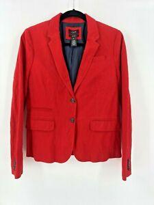 J. Crew Size 10 School Boy Blazer Herringbone Red Jacket Womens