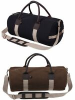 Rothco 19 Cotton Canvas Gym Bag With Leather Accents