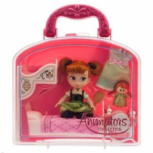"DISNEY Store ANIMATORS Collection 5/"" Anna in Frozen Mini DOLL PLAY SET NWT"