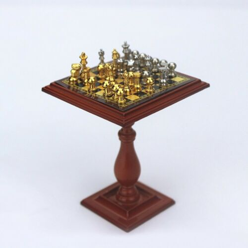 1//6 1//12 Miniature Dollhouse Magnetic Chess Board Table Set Kids DIY Toy Details about  /BE/_ HB