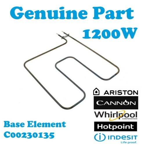 T Hotpoint BD32P MK2 BD32P//2 Genuine Cooker Oven Lower Base Element 1200W
