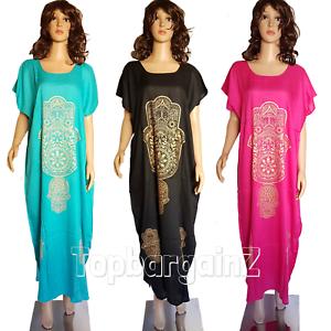 8d1f880acc Image is loading Ladies-Moroccan-Kaftan-Eid-Maxi-Dress-Casual-Summer-