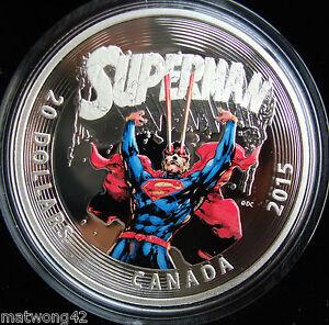 2015-Canada-1-oz-Fine-Silver-Coloured-Coin-Iconic-Superman-Comic-Book-Covers