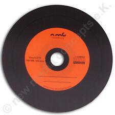 Vinyl CD-R Carbon,10 Stück ,700 MB zum archivieren, Dye schwarz Orange