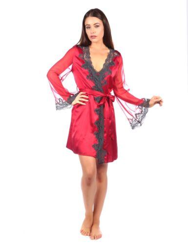 BNWT Myla Grand Heritage Soie Court Robe Dans Rouge à lèvres//ardoise dentelle RRP £ 365.00