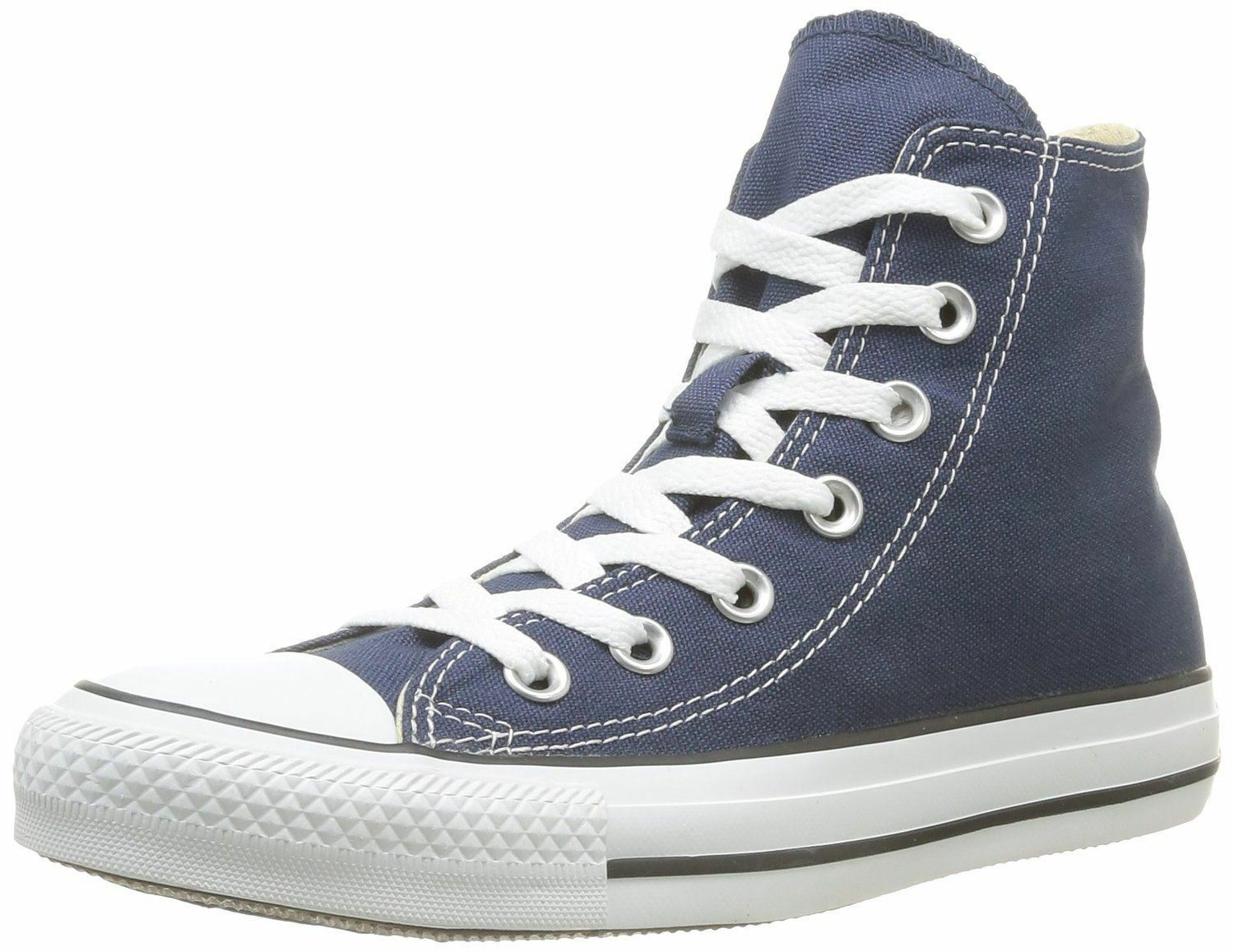Converse Chuck Taylor All Star Navy WEISS Hi Unisex Trainers Stiefel