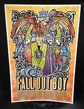 Fall Out Boy 2015 Tour Poster 13x19 Signed and #'d Original artist Gregg Gordon