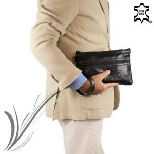 Pochette da polso uomo Borsello a mano in pelle piccola borsa per porta chiavi