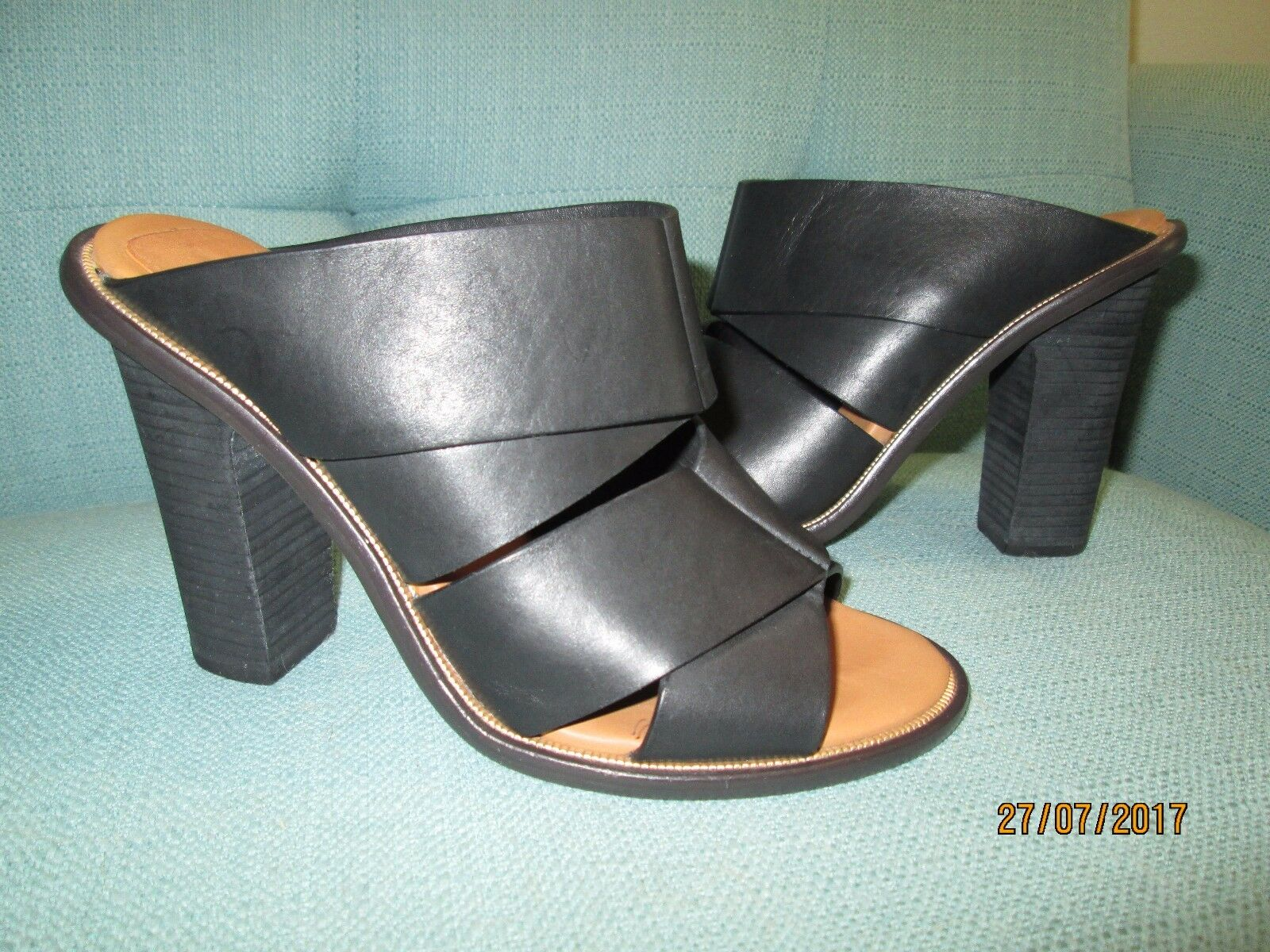 Womens shoes see by chloe black leather sandals size 5.5