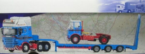 Scania R Plataforma de carga baja con Atkinson Algo Scotlee Transporte