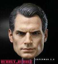 1/6 Henry Cavill Head Sculpt Superman Clark Kent For Hot Toys Body SHIP FROM USA