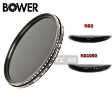 BOWER 77MM NEUTRAL DENSITY VARIABLE ND FADER FILTER LENS 2 ND4 ND8 ND400 ND1000