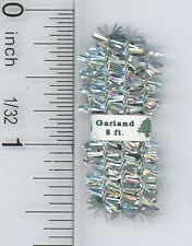 Dollhouse Miniature Wrapped Silver Holiday Garland for Display