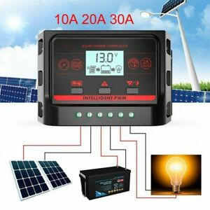 12-24V-10A-20A-30A-LCD-Solar-Charge-Controller-Panel-Battery-Regulator-Dual-USB
