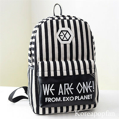 EXO CALL ME BABY EXODUS LOVE ME RIGHT SEHUN CANVAS BAG SCHOOLBAG BACKPACK KPOP