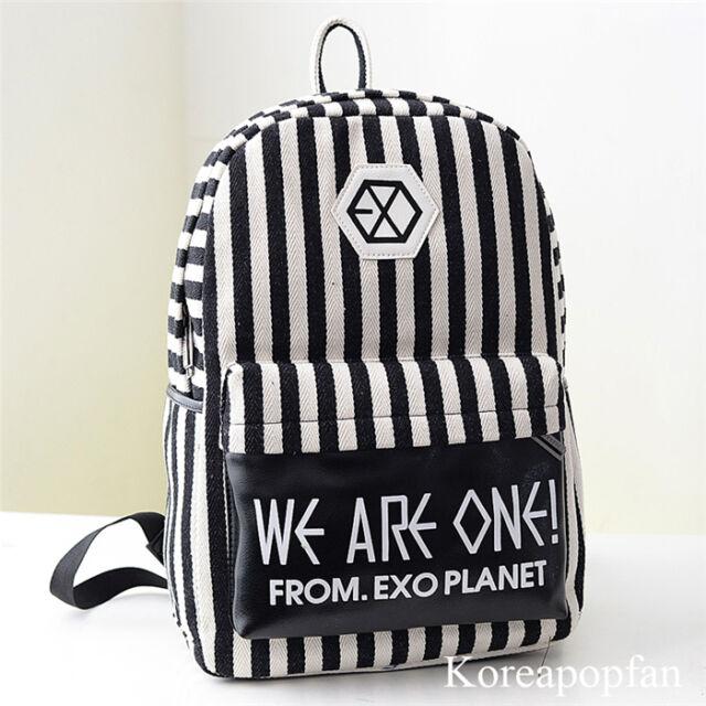 EXO CALL ME BABY EXODUS LOVE ME RIGHT SEHUN CANVAS BAG SCHOOLBAG BACKPACK KPOP