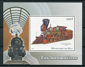Mali-2016-Gomma-integra-non-linguellato-Locomotive-Macchine-a-Vapore-1v-S-S-TRENI-FERROVIE