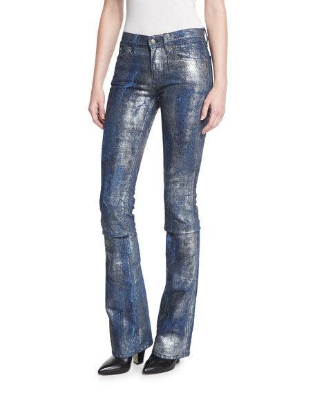 Ralph Lauren Purple Label 867 Metallic Bootcut Jeans New  1190
