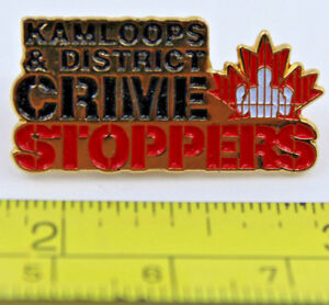 Kamloops and District Crime Stoppers BC Canada Collectible Pin Police Jail