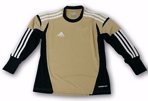 Details about adidas Condivo 12 Infants Goalkeeper Jersey TanBlackWhite Padded Sleeves
