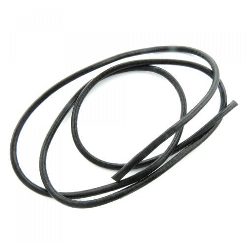 2,75€ pro m schwarz echt rund Leder Riemen Band Schmuckband 1m Lederschnur 5mm