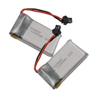 2pc 3.7V 20C 1100mAh Li-po battery For Syma X5C-1 X5SW X8tw part Drone RC 923048