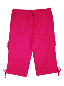 50 48 56 46 52 Neu Janina Damen Bermuda Shorts // Caprihose 3//4 Hose Gr