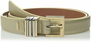 AK-Anne-Klein-Women-039-s-Smooth-Panel-with-Multi-Keeper-Belt-Gold-Large